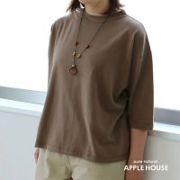 T1115五分袖カットソー(定番カラー)