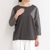 N2115ボーダー切替 Tシャツ<img class='new_mark_img2' src='https://img.shop-pro.jp/img/new/icons7.gif' style='border:none;display:inline;margin:0px;padding:0px;width:auto;' />