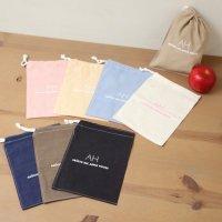 ロープBAG(Sサイズ)アップルハウスのミニ巾着袋