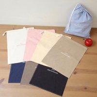ロープBAG(Mサイズ)アップルハウスの巾着袋