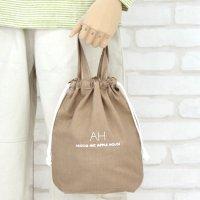AB BAG(Mサイズ)持ち手つき巾着袋