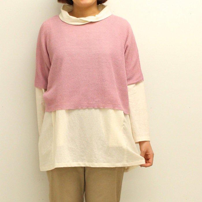 【50%OFF】K92602重ね着セーター商品画像1