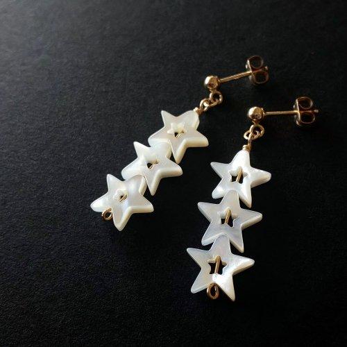 14kgf Triplet Star  3連符のリズムを奏でる星々のピアス・ポスト