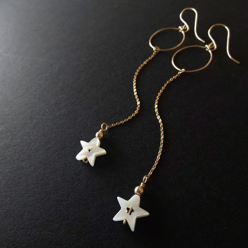 14kgf  Fragment of stars -星の欠片- シェル星のチェーンピアス