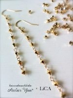 <img class='new_mark_img1' src='//img.shop-pro.jp/img/new/icons8.gif' style='border:none;display:inline;margin:0px;padding:0px;width:auto;' />【LiCA & Atelier Yuu*・コラボアクセサリー】ストレートな輝きスワロピアス(イヤリング) K14GF