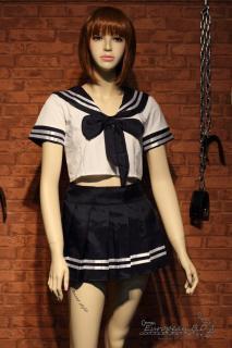 コスプレ 制服 ミニスカート セーラー服 紺色