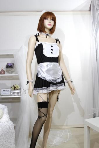 コスプレ ショート丈のワンピースタイプ かわいいメイド服