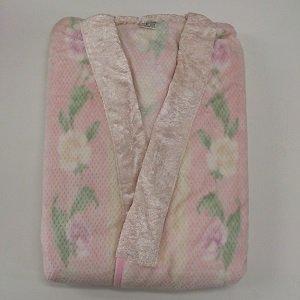 綿毛布かいまき 花柄