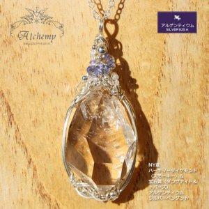 NY産 ハーキマーダイヤモンド & 宝石質(タンザナイト&トパーズ) シルバーペンダント
