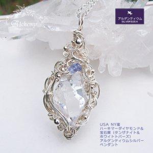 USA NY産 ハーキマーダイヤモンド原石&タンザナイト ペンダント