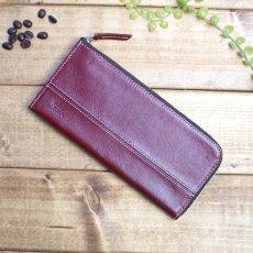 本革の薄型L型ファスナー財布 / style