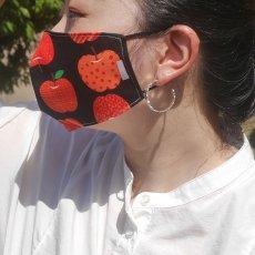 くり返し洗って使えるリバーシブルマスク / mask -りんごブラック-