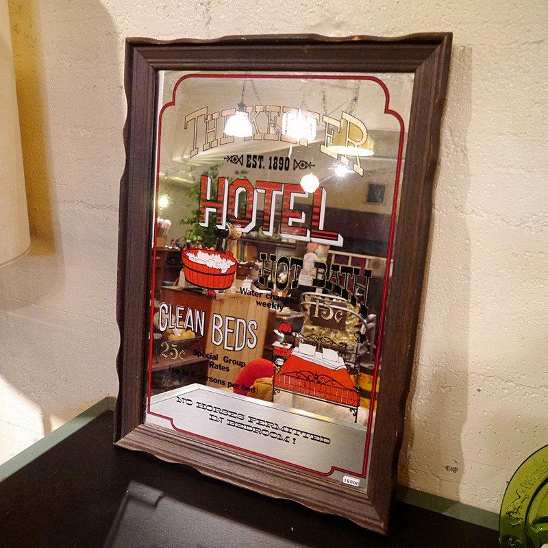 ビンテージ  ホテルミラー/パブミラー/THE KEEFER HOTEL style=