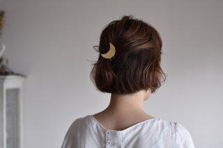 真鍮 ヘアゴム 月