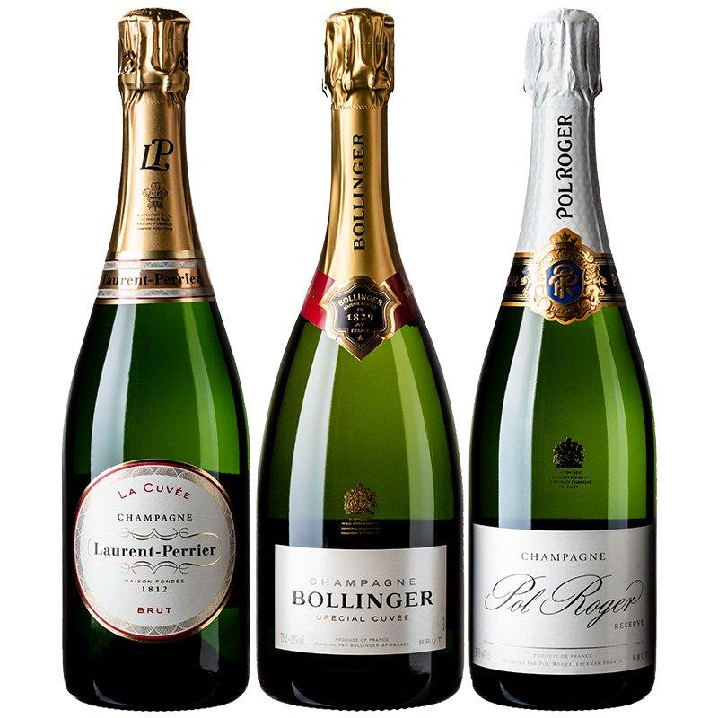 【送料無料】英国王室御用達シャンパーニュ飲み比べ3本セット