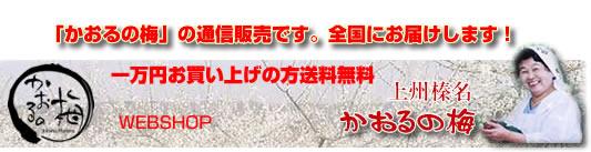 自然豊かな榛名で「梅干し」を通信販売してます、「かおるの梅です」減塩7%で完熟梅干しです。