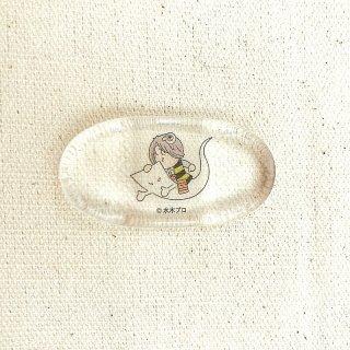 アクリル箸置き 鬼太郎と一反木綿
