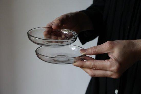 吹きガラス小皿