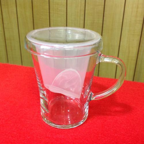 【ガラス】ティーメイトGTM-57 名前入りマグカップ(フタ・茶漉し付き)