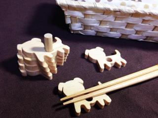 +NUKUMORIオリジナル 動物積み木箸置き