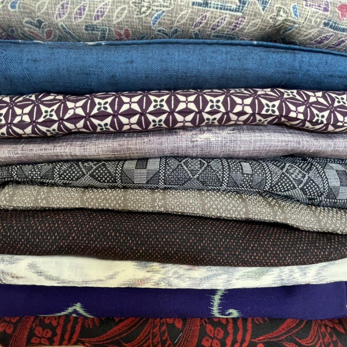 リメイク用 着物10枚 (ウール、交織、化繊)