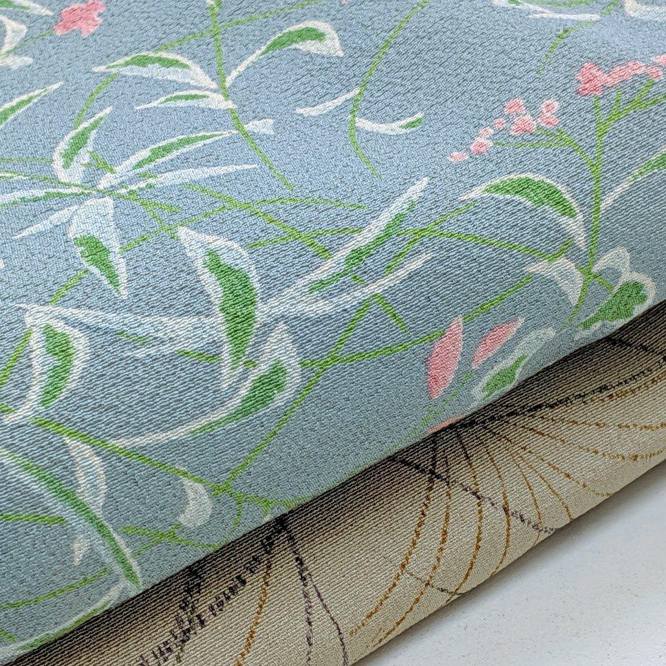 リメイク用反物 小紋 (洗い張り) 絹  2本セット