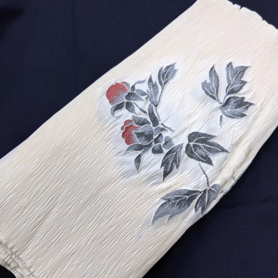 リメイク用反物 花柄(洗い張り) 絹