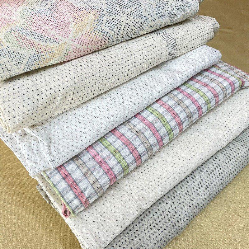 リメイク用 夏着物  白シリーズ (白絣、綿、紬など) 6枚セット