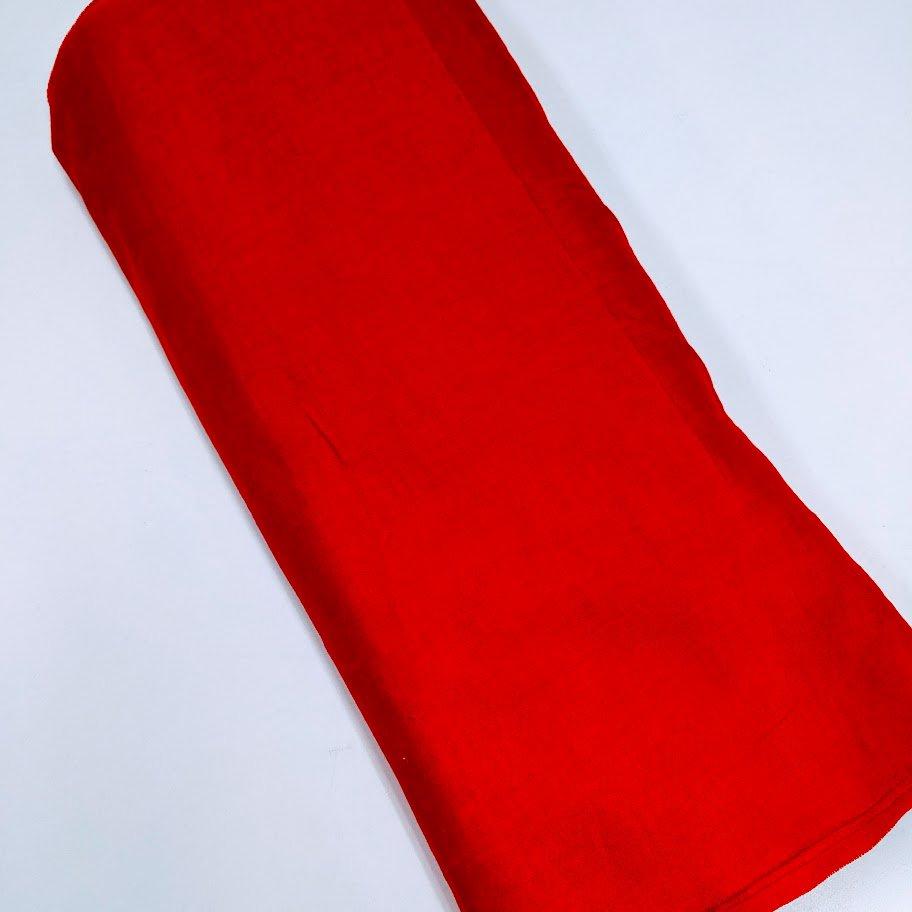 赤 木綿  反物   リサイクル品