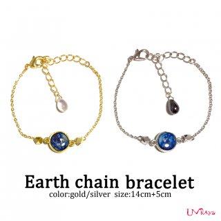 Earth チェーンブレスレット(ゴールド/シルバー)