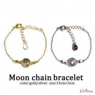 Moon チェーンブレスレット(ゴールド/シルバー)