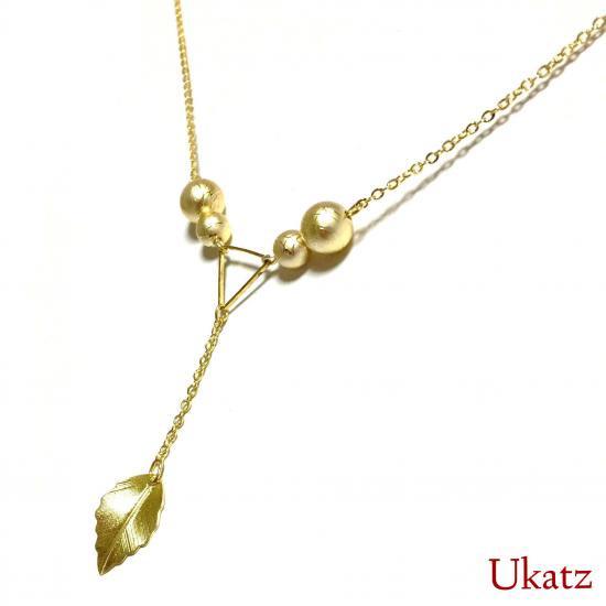 """Ukatz NO.529 """"leaf""""ネックレス"""