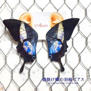 朝焼け蝶の羽根ピアス/イヤリング