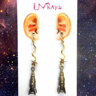 """【OUTLET】""""宇宙飛行""""ピアス/イヤリング"""