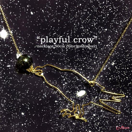 """""""playful crow""""ネックレス《..."""