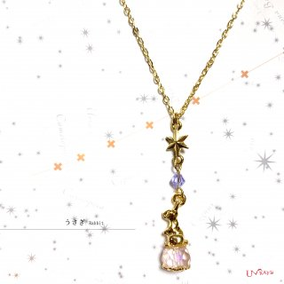 【OUTLET】夢見るうさぎのネックレス*K16GP*