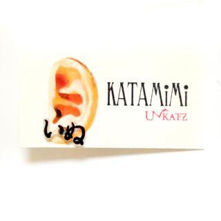 KATAMiMi【いぬ】オノマトペピアス(片耳)