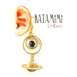 【再販】KATAMiMi NO.22 土星の片耳ピアス