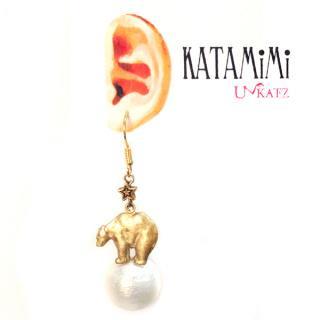 KATAMiMi NO.24 シロクマの片耳ピアス
