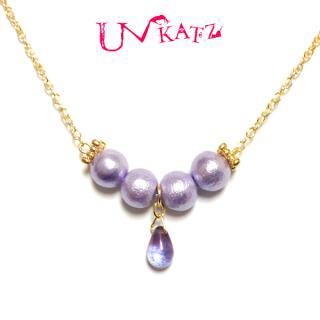 Ukatz NO.255-8 菫色の女王ネックレス