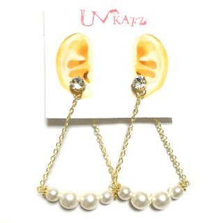 Ukatz NO.394 Pearl bridgeピアス