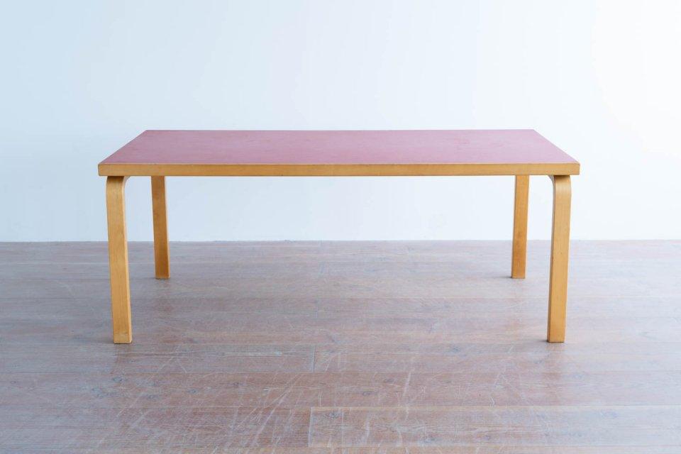 Alvar Aalto 83 テーブル リノリウムレッド