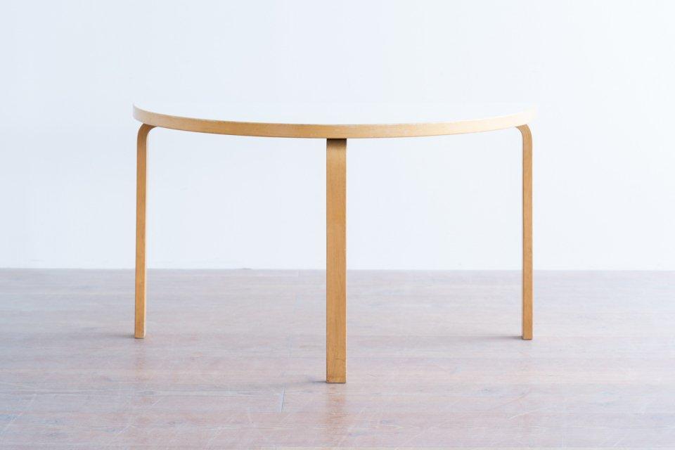 Alvar Aalto  95 半円テーブル ラミネートホワイト