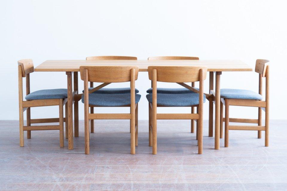 Borge Mogensen model.6284 ダイニングテーブル / model.3236 ダイニングチェア 6脚 セット「Buyer's Bonus 9/15〜9/30 タイムセール」