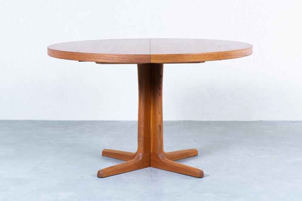 ラウンドダイニングテーブル チーク