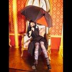 吸血鬼の愛した傘 薔薇柄付