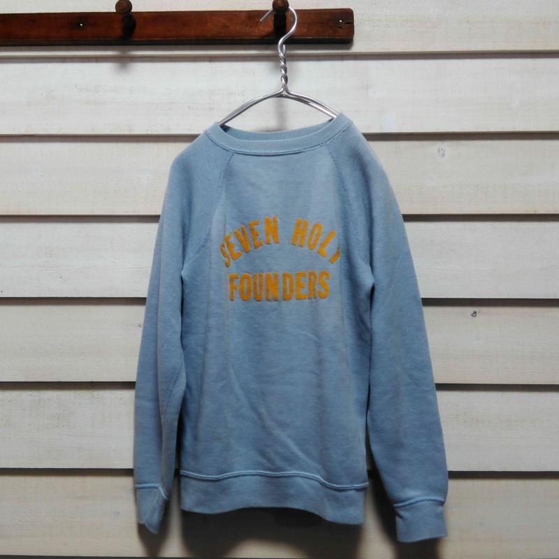 70's ヴィンテージ Vintage Sportswear 古着 フロッキープリント スウェットトレーナー