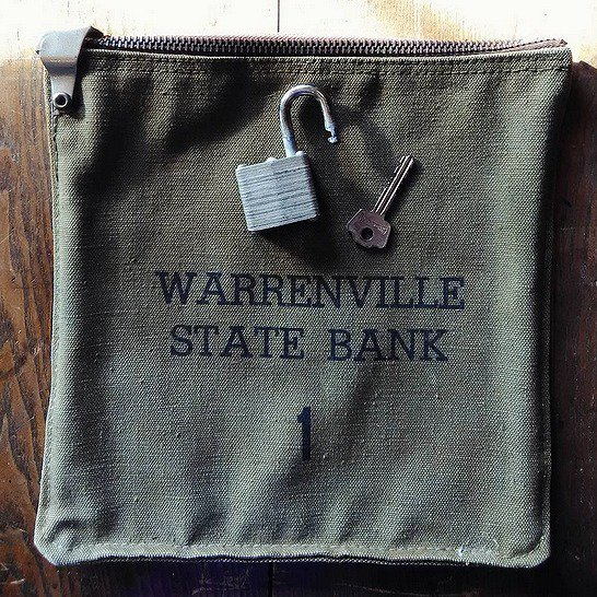 50's MADE IN U.S.A. Bank deposit bag バンクバック