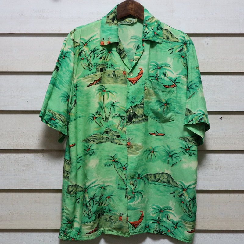 60's〜 Made in Hawaii 古着 ビンテージ アロハシャツ