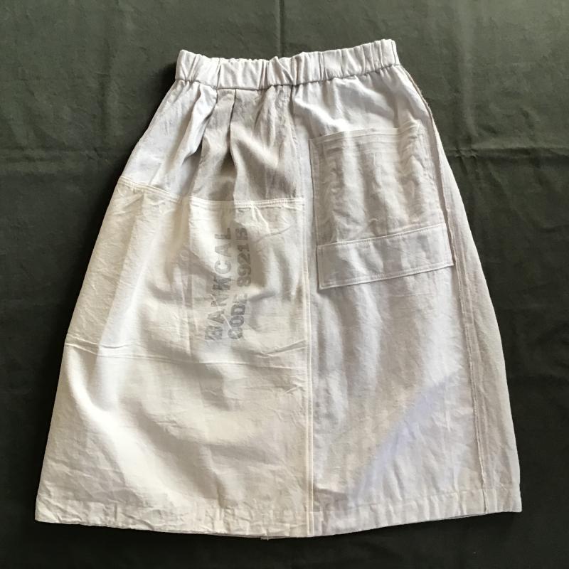 vintage french military フランス軍リネン × アメリカBANK BAG リメイクスカート #4